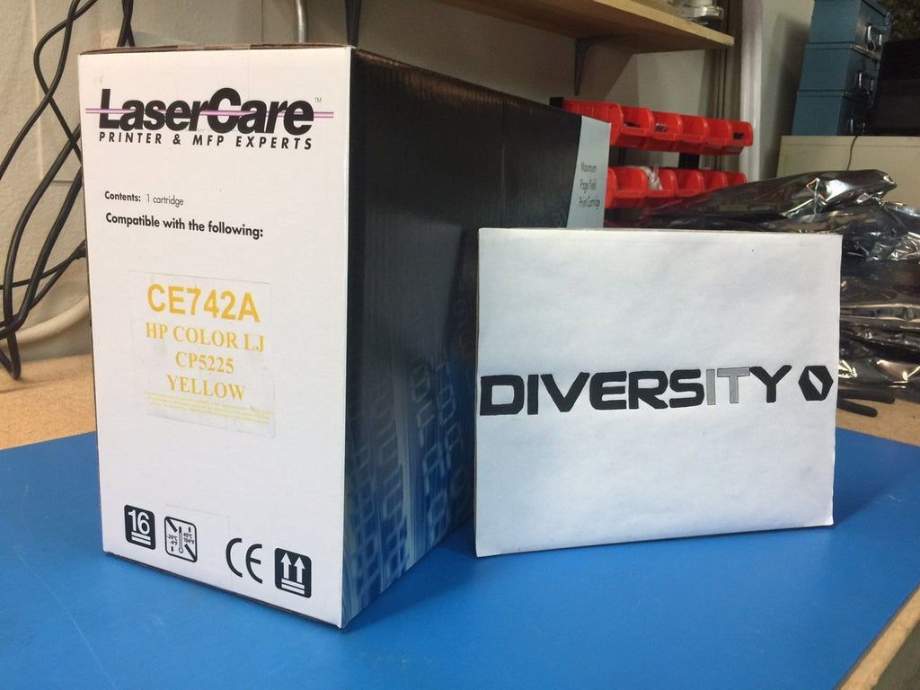 LaserCare HP Compatible Color LaserJet CP5225 CE742A YELLOW *BRAND NEW*