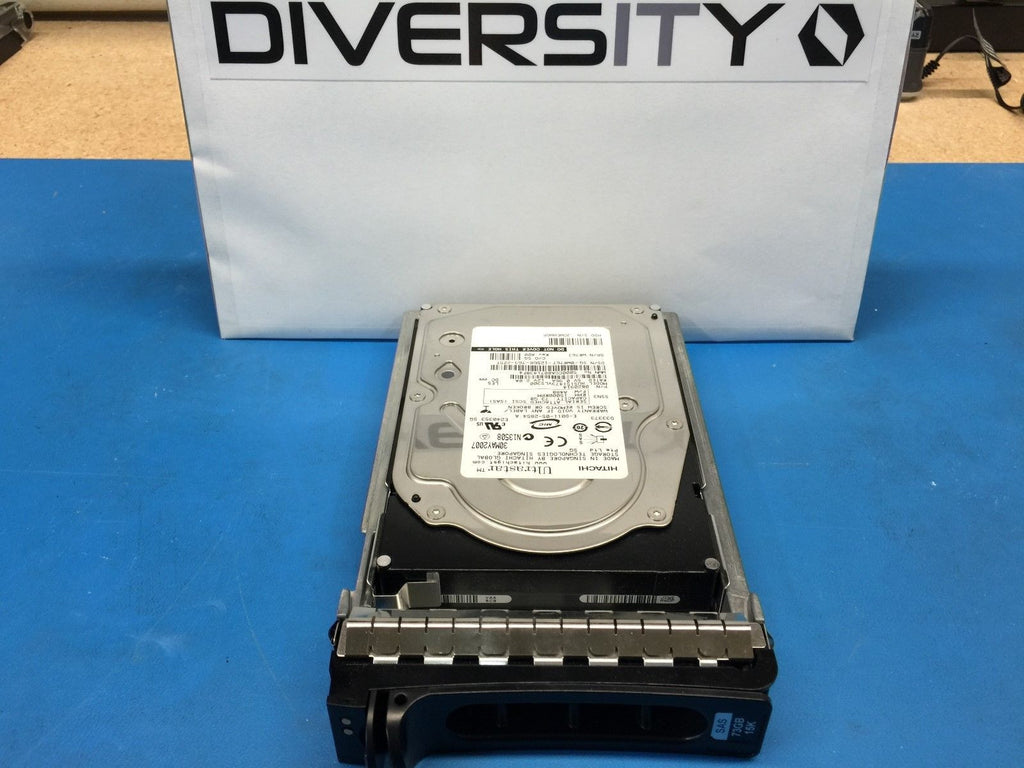 "Dell Hitachi UltraStar 73GB SAS 15K 3.5"" (WR767) 0B20914 HDD w/ Caddy"