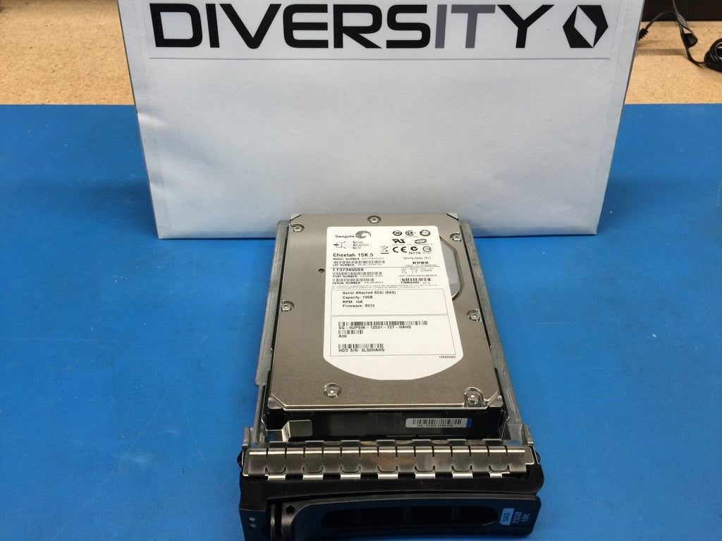 "Dell Seagate 15K.5 73GB SAS 15K 3.5"" (UP936) ST373455SS 9Z3066-050 HDD w/ Caddy"