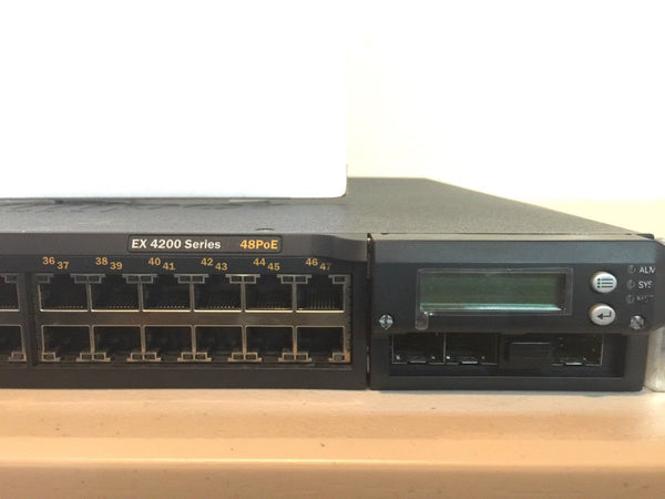Juniper EX4200 48-Port POE 10/100/1000Base-T Ethernet Switch EX4200-48P