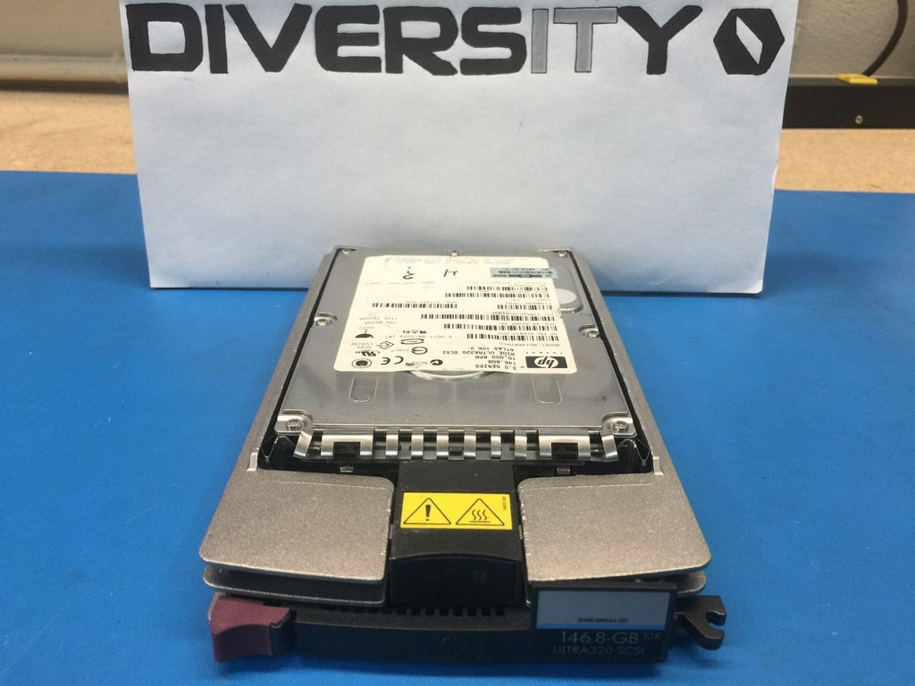 "HP 146GB U320 SCSI 10K 3.5"" BD14687B52 356910-002 286716-B21 HDD w/ Caddy"