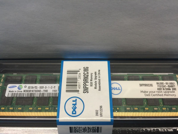 Dell Original SNPP9RN2C/8G Samsung M393B1K70DH0-YH9 8GB 2Rx4 PC3L-10600R *NEW*