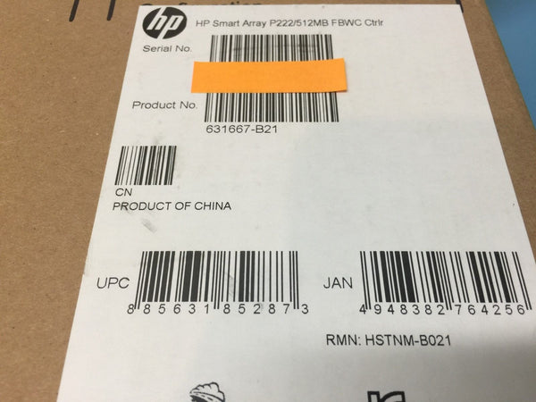 HP Smart Array P222/512MB FBWC SAS Controller 631667-B21 *Brand New Sealed*