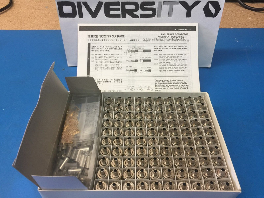 Canare BCP-C32 BNC Series Connectors - Complete Factory Box of 100