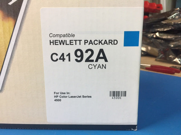 QLC HP Compatible Toner For LaserJet 4500 4550 C4192A 92A CYAN *BRAND NEW*