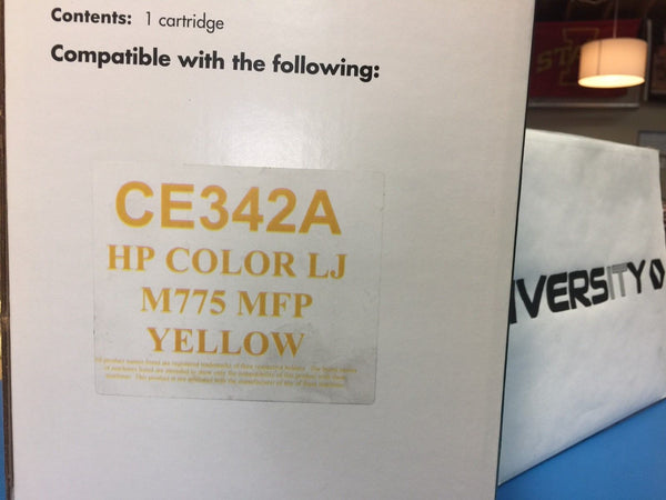LaserCare HP Compatible Color LaserJet M775 MFP CE342A YELLOW *BRAND NEW*