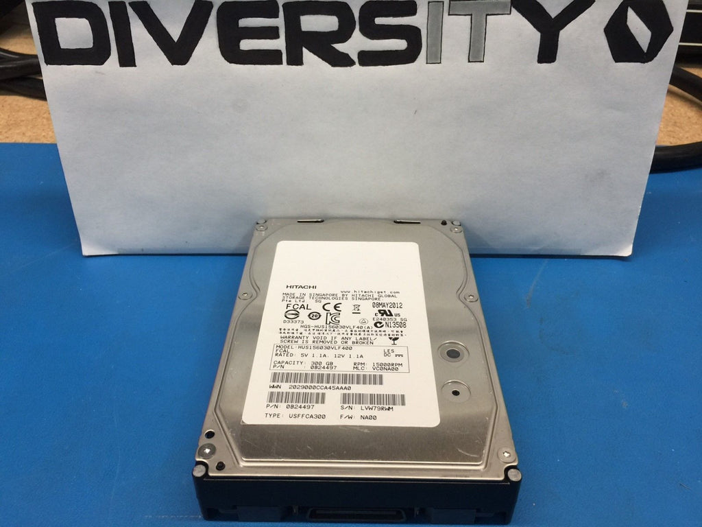 "Hitachi 300GB Fibre Channel 15K 3.5"" 0B24497 HUS156030VLF400 Replacement HDD"