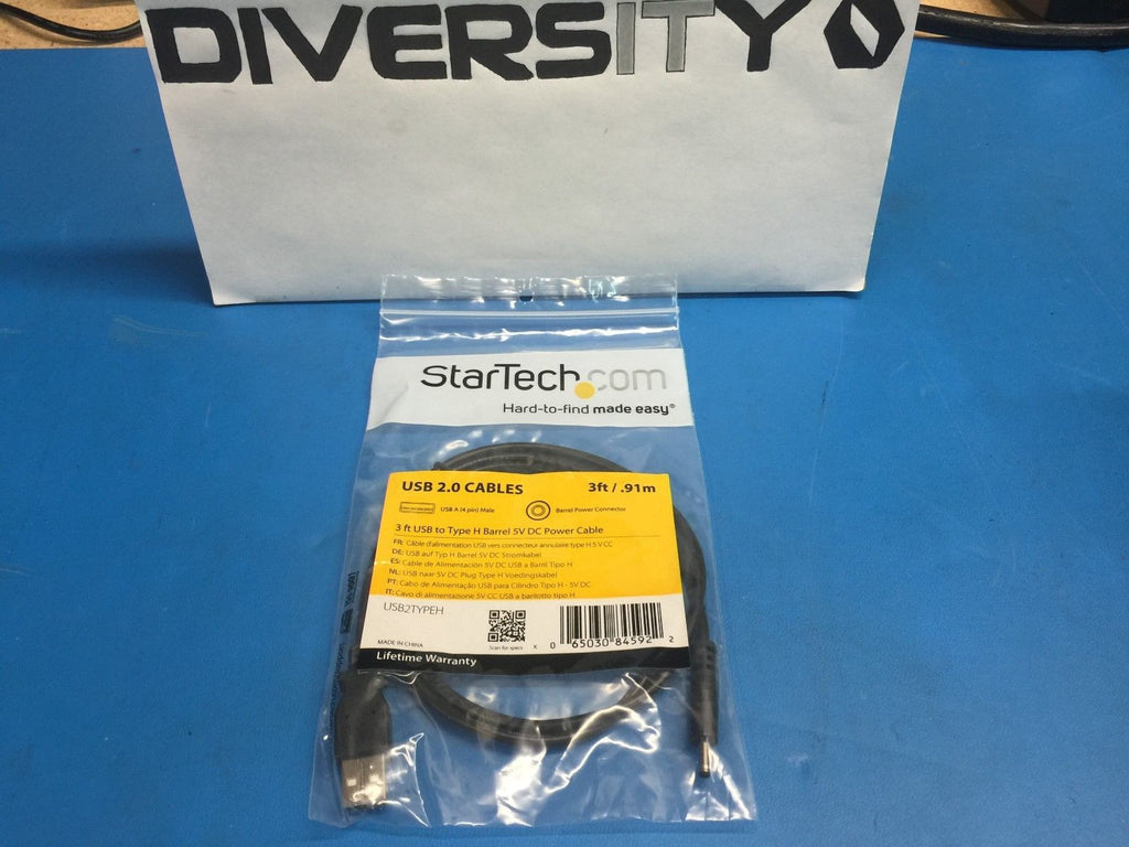 StarTech USB 2.0 A Male to Type H Barrel 5V DC Power Cable 3ft USB2TYPEH *BNIB*