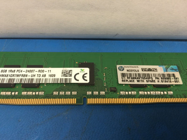 Hynix HMA81GR7MFR8N-UH HP 809080-091 819410-001 (8GB 1Rx8 PC4-2400T)