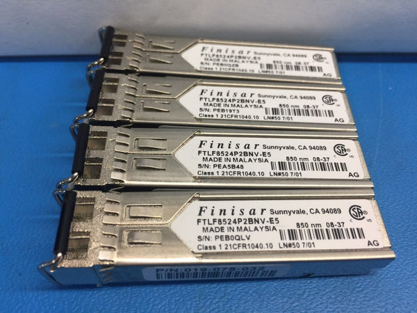 Finisar 4GB SW FC GBIC SFP Transceiver FTLF8524P2BNV-E5 *Lot of 4*