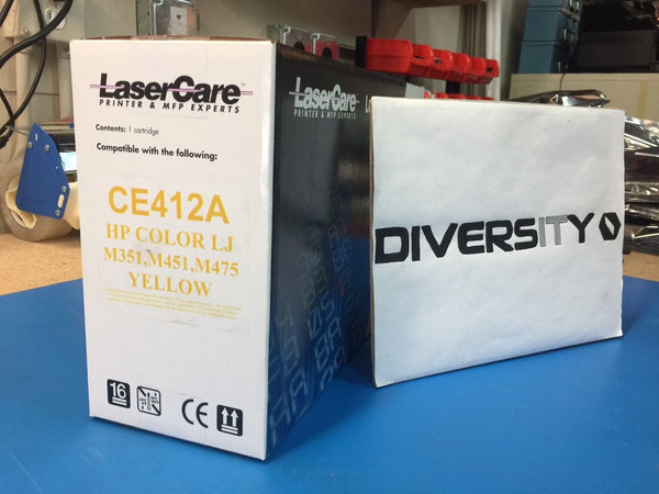 LaserCare HP Compatible Color LJ M351 M451 M475 MFP CE412A YELLOW *BRAND NEW*