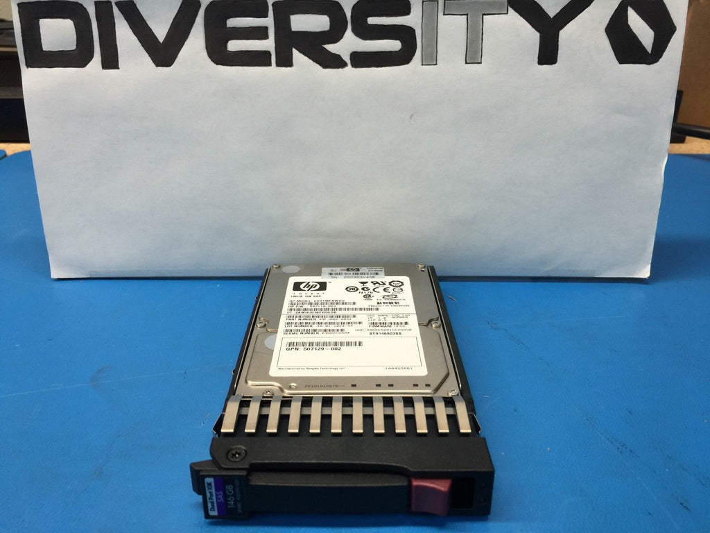 "HP SAS HotPlug 146GB 10K 2.5"" 507125-B21 507283-001 Replacement HDD w/ Caddy"