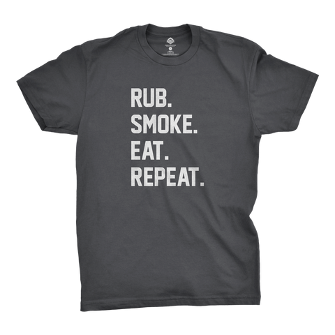 Rub. Smoke. Eat. Repeat. T-Shirt