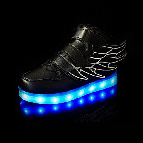 Flashez - Black LED Thunder Shoes