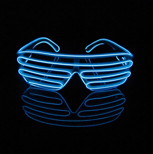 Light up EL Wire Shutter Glasses Neon