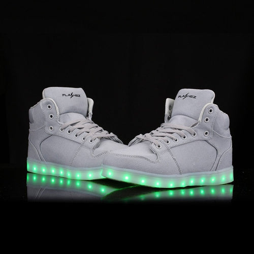 Flashez LED Footwear - PRE-ORDER - Flashez - Canvas High Tops