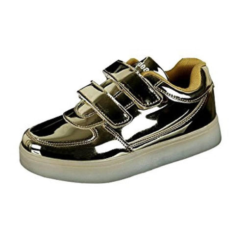 LED Shoes - Flashez - Golden Velcro LED Shoes