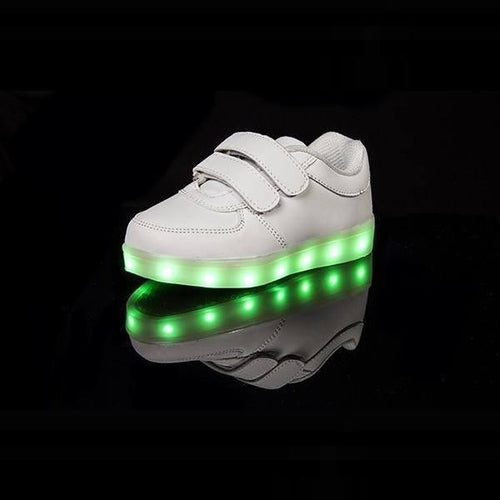 LED Shoes - Flashez - LED White Velcro LED Shoes