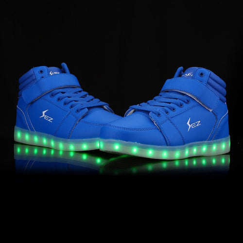 Shoes/Trainers - Flashez - Blue Chicane LED High Tops