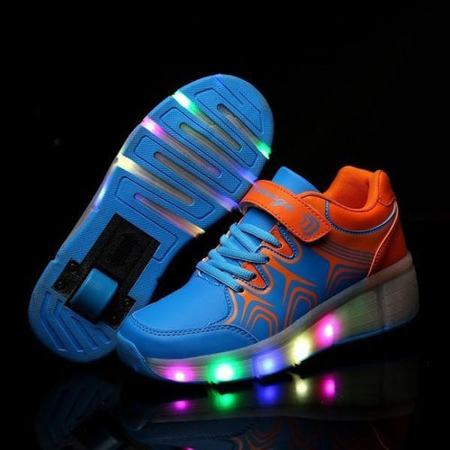 Shoes/Trainers - Flashez Blue - Wheely Roller Shoes LED