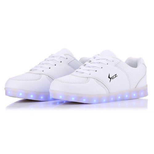 Shoes/Trainers - Flashez - EDM White LED Low Tops