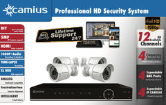 Camius 1080p Security Camera System 8-PACK Night Vision Outdoor Camera- 12K8