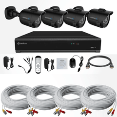 Camius 720P 4-Channel DVR with 4 HD 720P Outdoor Bullets