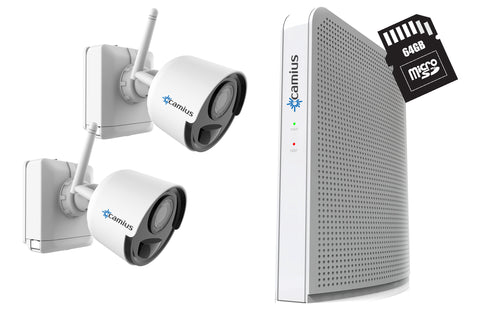 Camius 1080p Wireless Wirefree Security Camera system with a DVR - rechargeable battery, no subscription!