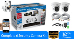 Camius 1080p Security Camera System with Night Vision - Outdoor - HD DVR video recorder - 4PACK - 12K4