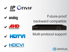 Camius Full 1080p 16 Channel Security DVR (24-Channel XVR) TriVault2168ATC