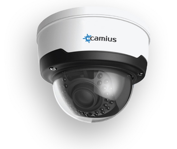 Camius GuardV - 4MP Security Camera - PoE - Outdoor Dome - 2.8mm to 12mm