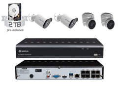 Camius 8-Channel 4K NVR PoE IP Security System w/ 5MP Cameras (Dome/Bullet)