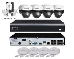 Camius 128Mbps 8-Channel PoE NVR with 4MP Vandalproof Dome IP cameras (GuardV)