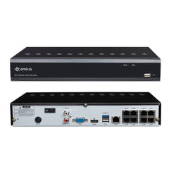 Camius 4K NVR 8 Channel - 8 built-in PoE ports - 128Mbps - IPVault1128p
