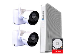 Camius 2 Camera Wire-Free Battery Operated DVR 1080p Security Camera System