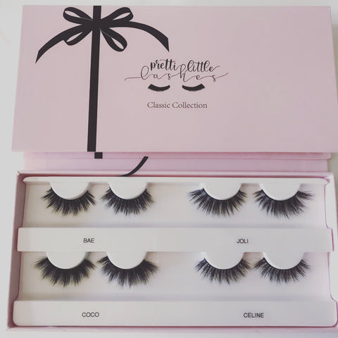 Pretti Little Lashes 4 pairs Classic Collection (Limited Edition box)