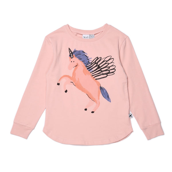 Minti Painted Pegasus Tee Muted Pink