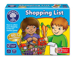 Orchard Games Shopping List