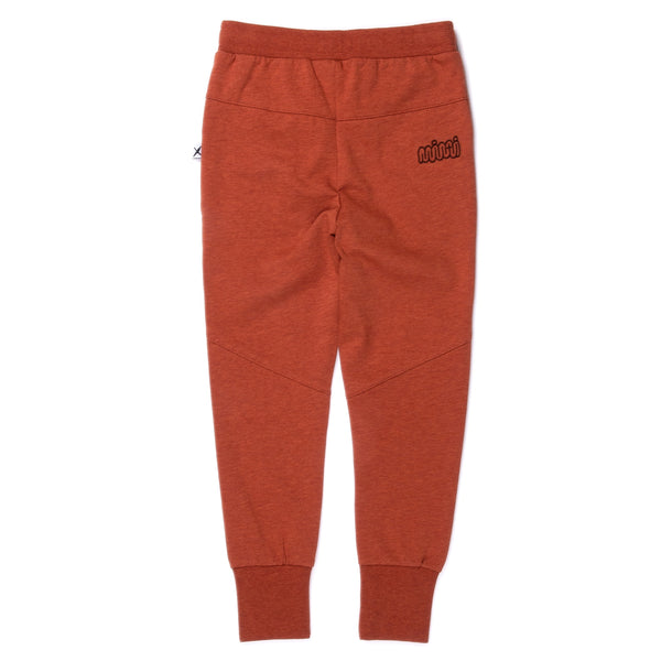 Minti Sliced Trackies Burnt Orange Marle