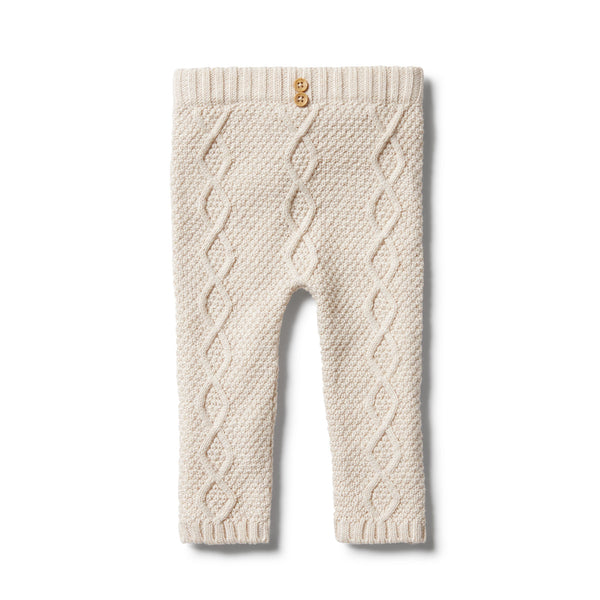 Wilson and Frenchy Knitted Cable Legging Oatmeal