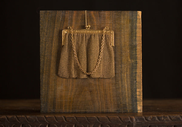 14k Gold Mesh Evening Bag with Chain