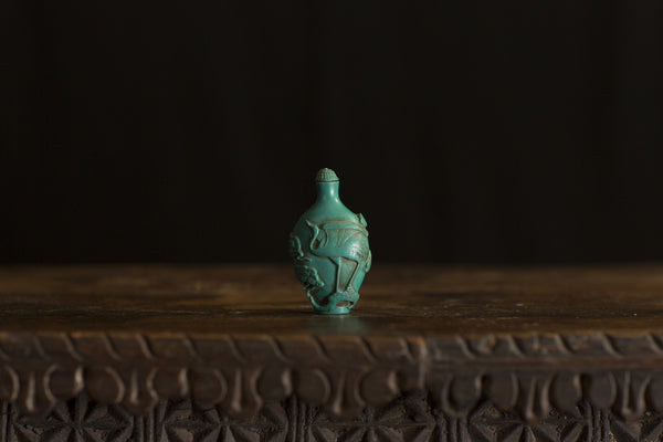 Antique Turquoise Small Bottle