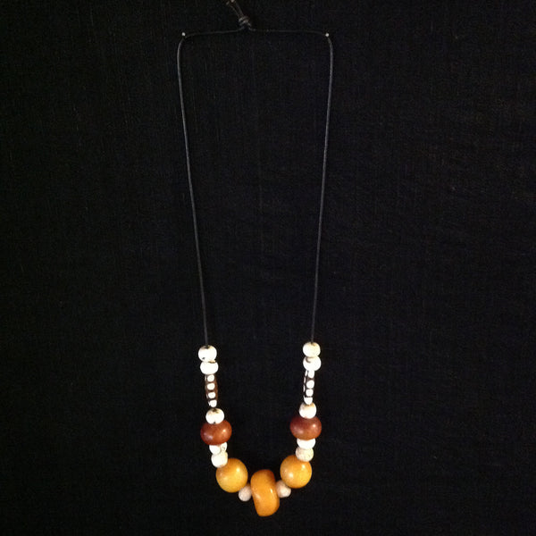 African Trade Beads Kopal and Conch Beads