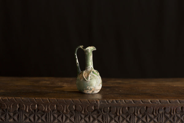 Ancient Roman Blown Glass Pitcher