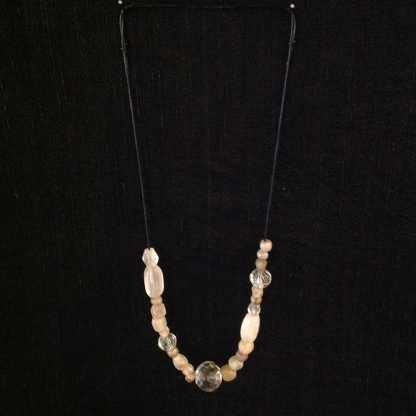 Antique Crystal Faceted Ancient Beads Necklace