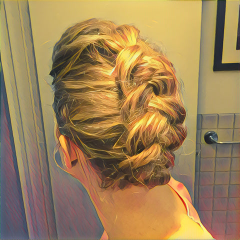 SunCare for Your Hair: SunQuist Faux-Hawk Dutch Braid Final Back