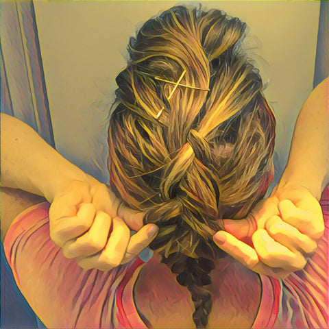 SunCare for Your Hair: SunQuist Faux-Hawk Dutch Braid Step 6