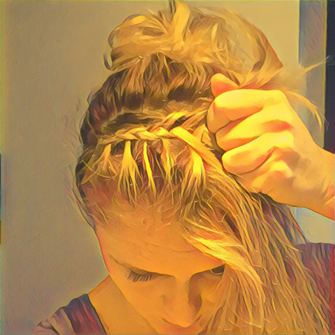 SunCare for Your Hair: SunQuist Braided Headband Step 11