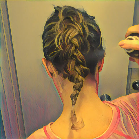 SunCare for Your Hair: SunQuist Faux-Hawk Dutch Braid Step 10