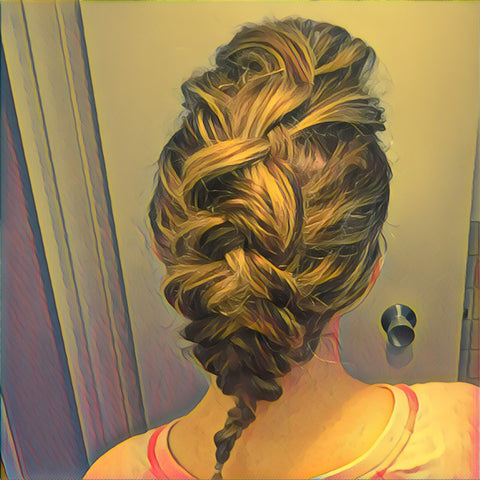 SunCare for Your Hair: SunQuist Faux-Hawk Dutch Braid Step 10b